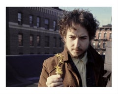 Bob Dylan, on Rooftop with Forsythia, 1970
