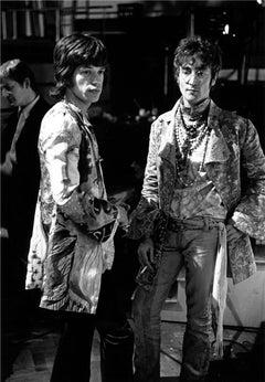 Mick Jagger and John Lennon, Abbey Road Studios, London, 1967