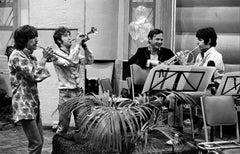 George Harrison, John Lennon, Paul McCartney, and Brian Epstein, 1967