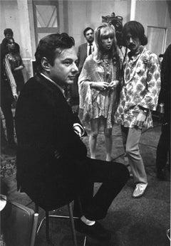 Brian Epstein, Pattie Boyd and George Harrison, Abbey Road Studios, 1967
