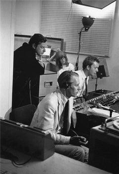 Brian Epstein, George Martin, and Geoff Emmrick, 1967