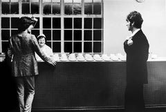 George Harrison and John Lennon, Abbey Road Studios, London, 1967