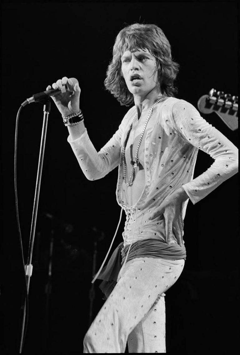 Michael Zagaris Black and White Photograph - Mick Jagger, California