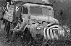 James Taylor and Old Truck, Lake Hollywood, CA 1969