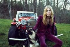 Gregg Allman with his dog, 1975