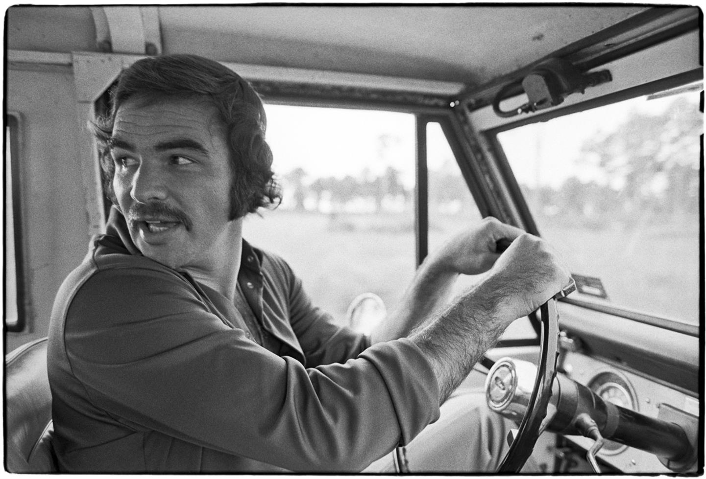 Burt Reynolds, at his ranch, Jupiter, Florida, 1972