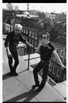 Joe Strummer and Jim Jarmusch, NYC