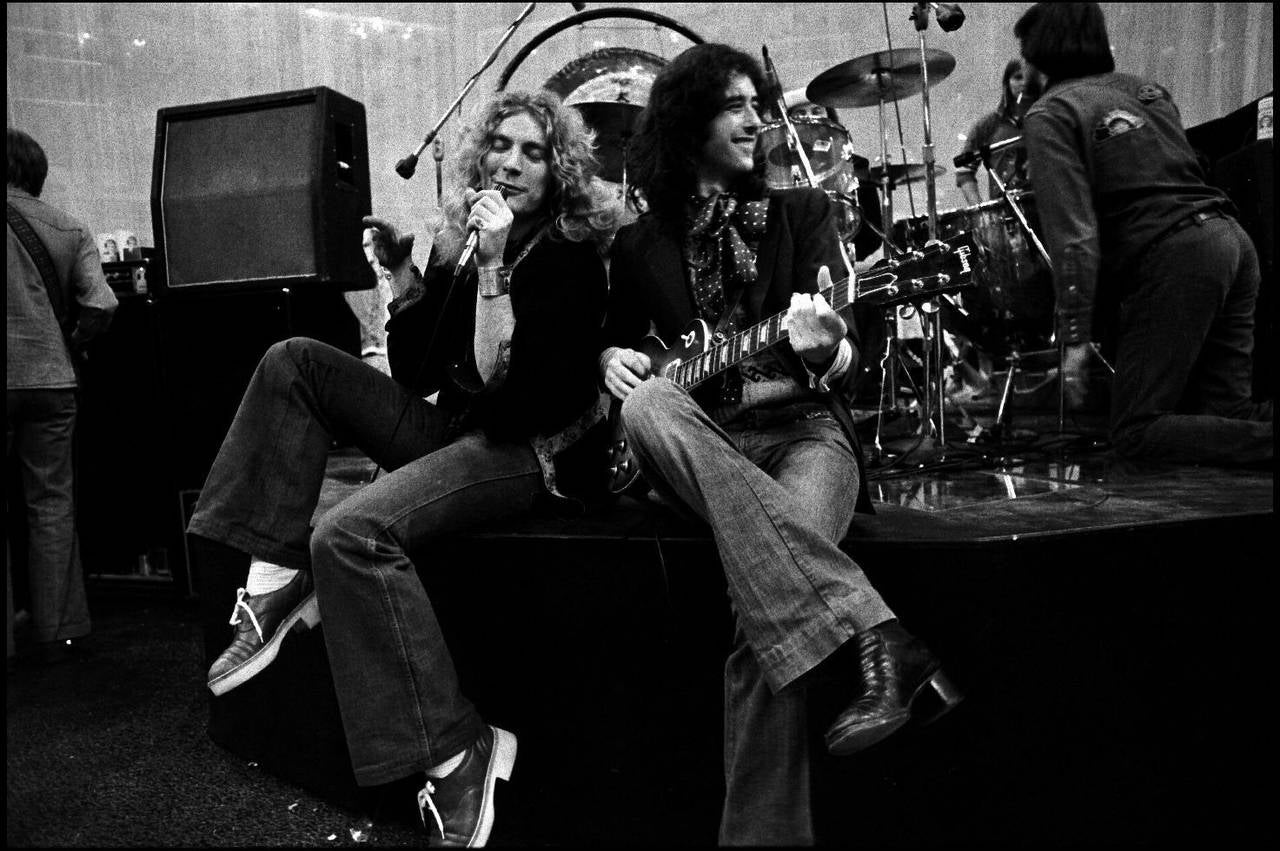 Neal Preston Black and White Photograph - Jimmy Page & Robert Plant