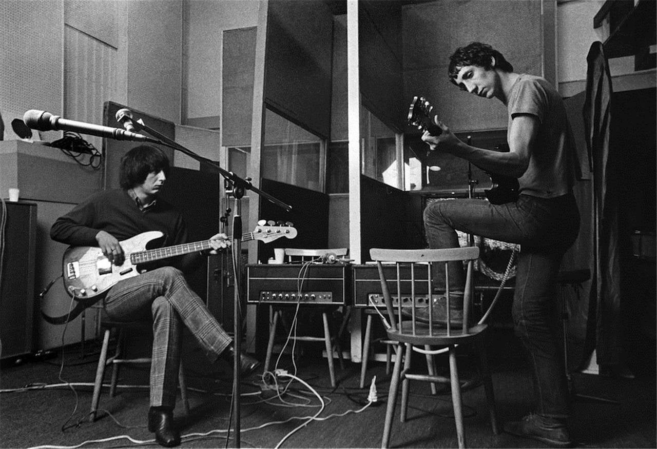 Barrie Wentzell Black and White Photograph - John Entwhistle & Pete Townshend