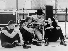 U2 Rehearsing