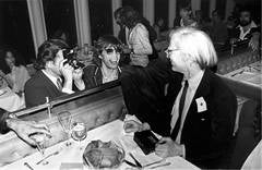 Mick Jagger and Andy Warhol, NYC