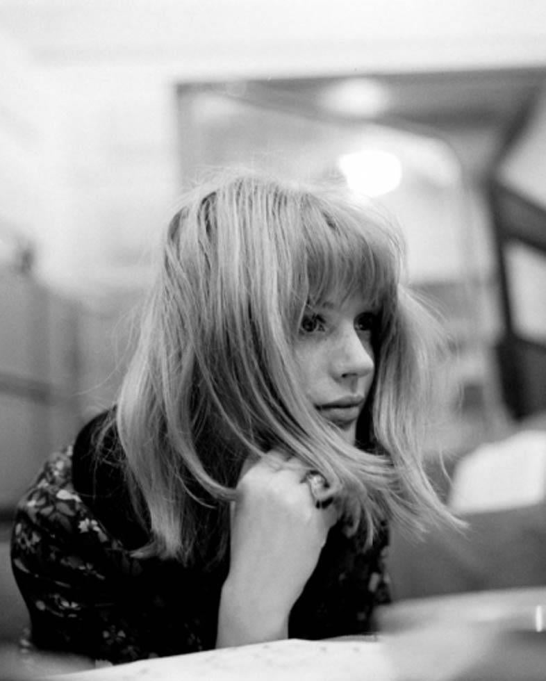 Gered Mankowitz Black and White Photograph - Marianne Faithfull