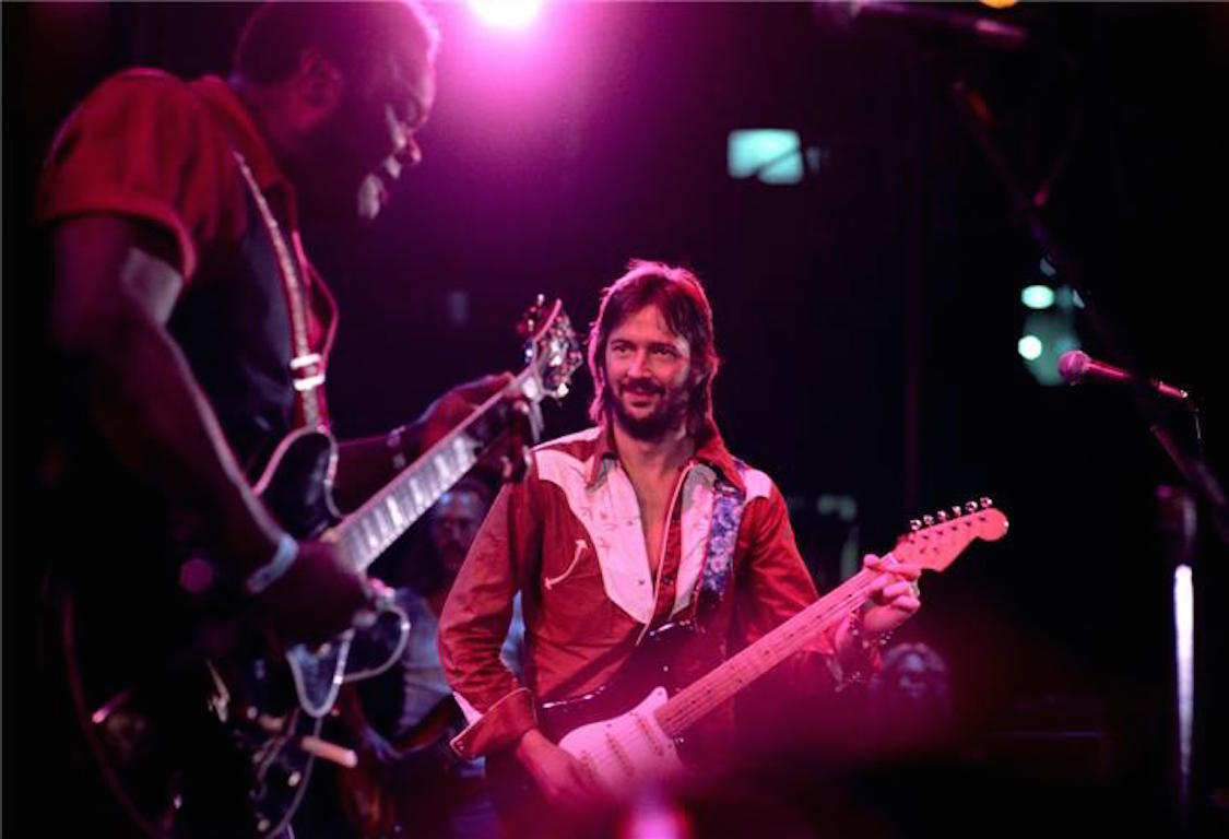 Pattie Boyd Color Photograph Eric Clapton And Fred King