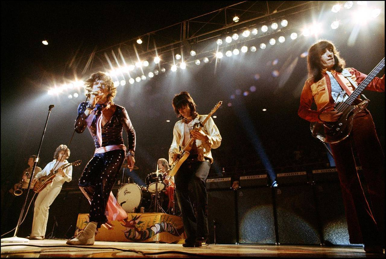 Ethan Russell Portrait Photograph - The Rolling Stones Onstage