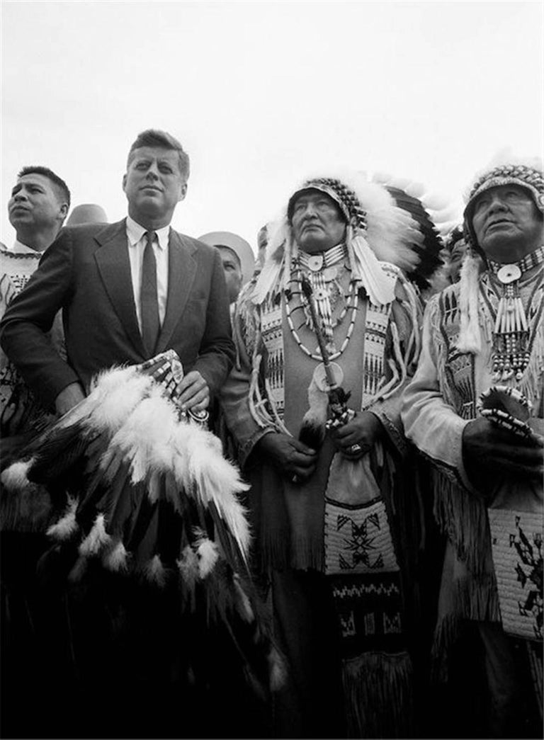 """Two Chiefs,"" John F. Kennedy Fields Indian Request, 1960"