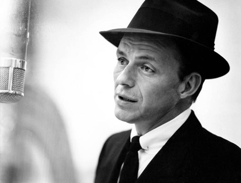 Herman Leonard Portrait Photograph - Frank Sinatra, New York City, 1956