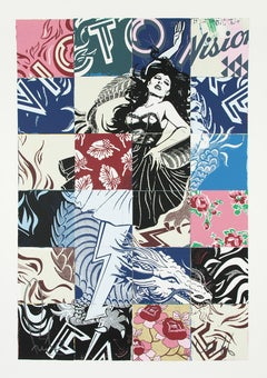 FAILE: Visions Victoire - Huge Screen print signed/numbered Pop Art, Street art