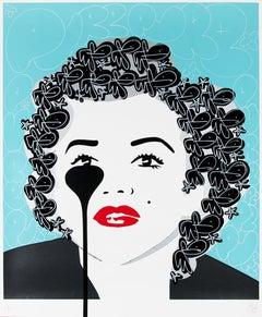 PURE EVIL: The Last Marilyn Monroe. Unique hand finished print. Street, Pop Art