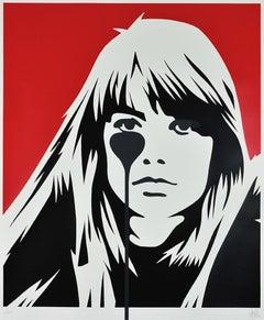 PURE EVIL: Jacques Dutronc's Nightmare - Françoise Hardy. Street art, Pop Art