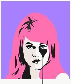 PURE EVIL: Jane Fonda's Nightmare - Limited ed. Screen print Street art Pop Art