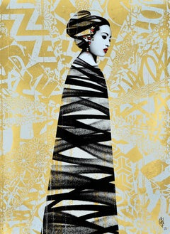 HUSH: Asiatic - Limited ed. Screen print & UV varnish. Street art, Urban Pop art