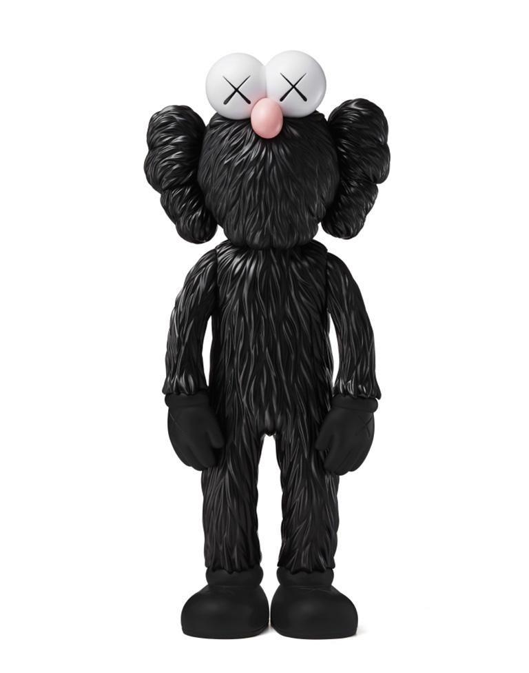 KAWS: BFF (Black) - Original Vinyl Sculpture, Street art, Pop Art. MOMA sold out - Gray Figurative Sculpture by KAWS