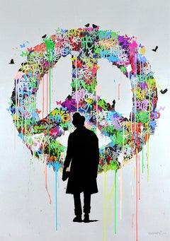 KENNY RANDOM: The Dreamer - Hand painted giclée on paper Street art, Graffiti