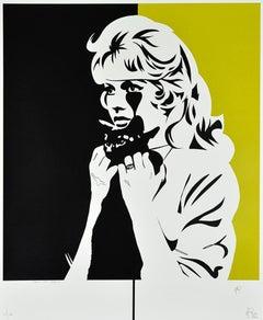 PURE EVIL: Brigitte Bardot Crazy Cat Lady - Screen print Street art Pop Art