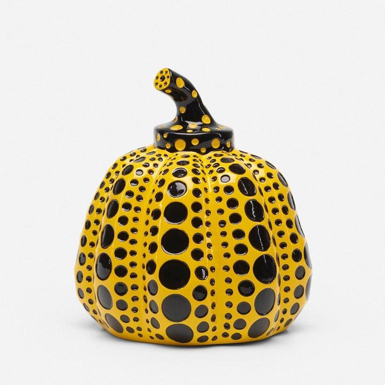 YAYOI KUSAMA - Pumpkin (Yellow). Conceptualism, Contemporary, Modern art, Dots