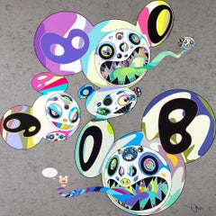 TAKASHI MURAKAMI: Spiral. Limited edition hand signed & numb. Superflat, Pop Art