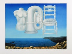 RENÉ MAGRITTE - LE TEMPS MENACANT, 1929 Limited edition Lithograph - Surrealism
