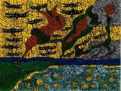 Tempus fugit I, Anick Langelier, 21st Century, Outsider art, Figurative painting