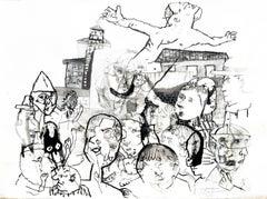 El Salvador V - Sergio Moscona, 21st century, Contemporary figurative drawing