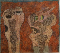 Tattoed heads #885- Geneviève Seillé, 21st Century, Outsider art, Figurative art