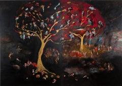 Genealogical spaces #6 - Hélène Duclos, 21st Century, Painting