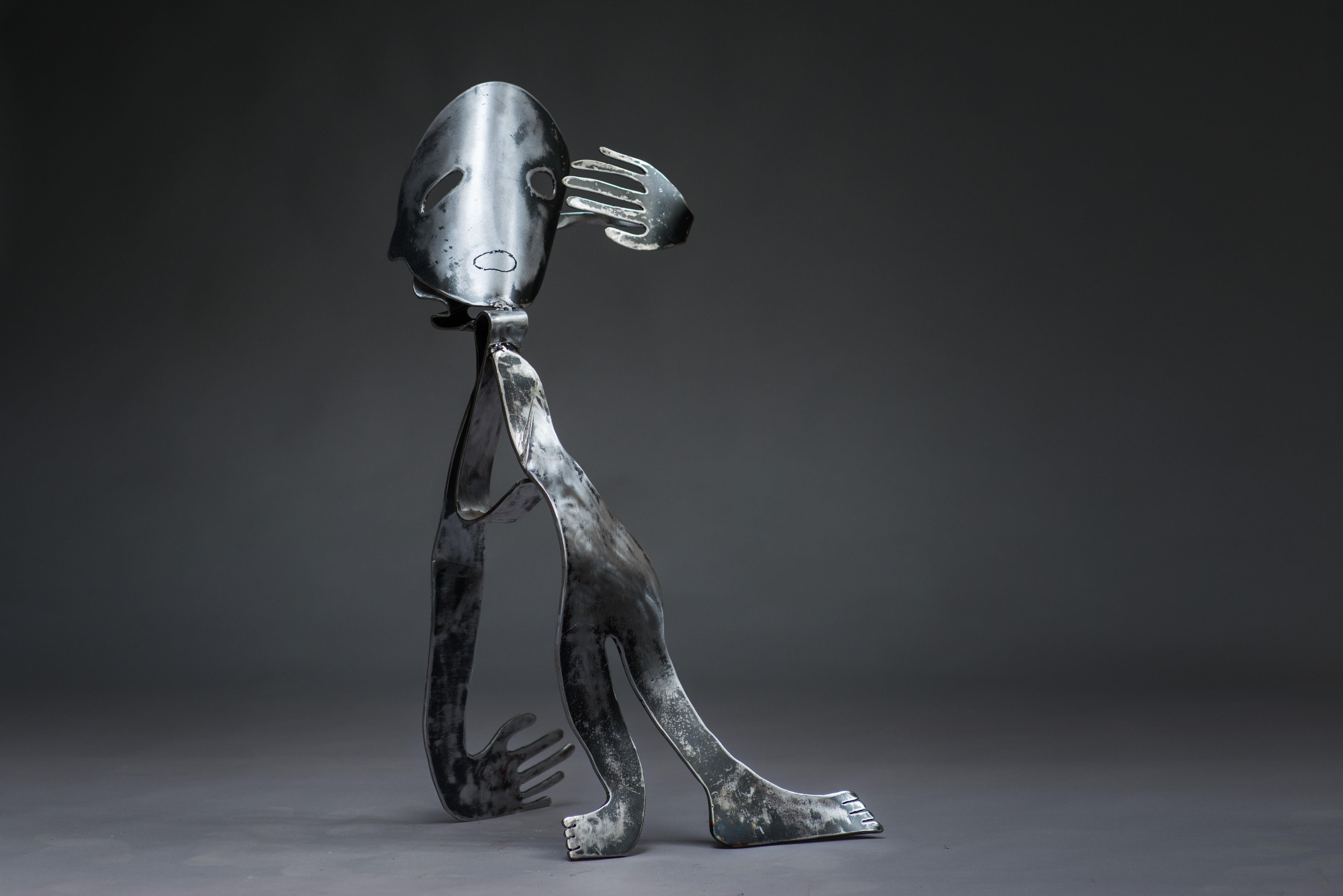 The Lunatic - Haude Bernabé, 21st Century, Contemporary metal sculpture, figure