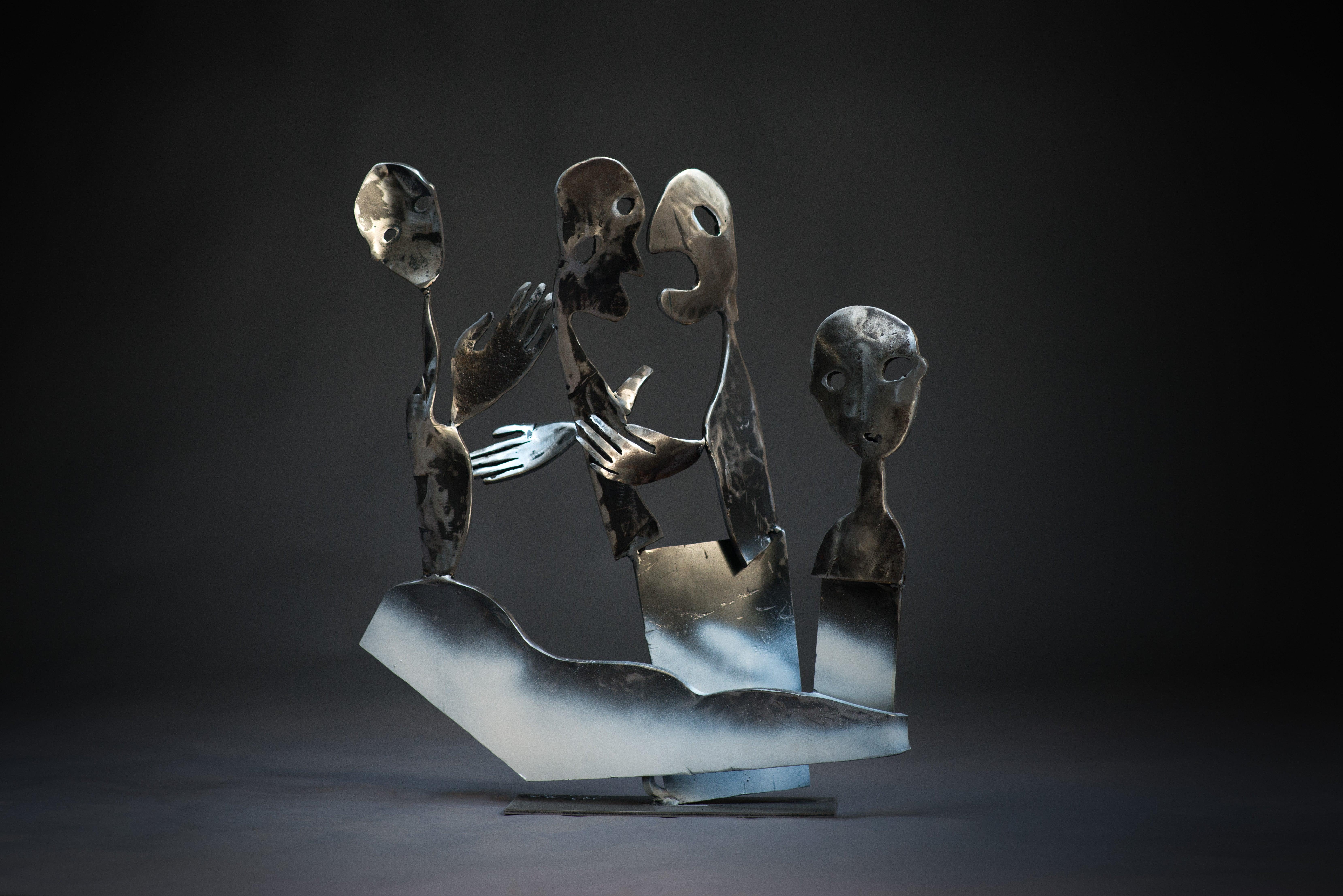 The side lane - Haude Bernabé, 21st Century, Contemporary metal sculpture