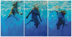 Into The Deep, Triptych - (Large Format Painting)