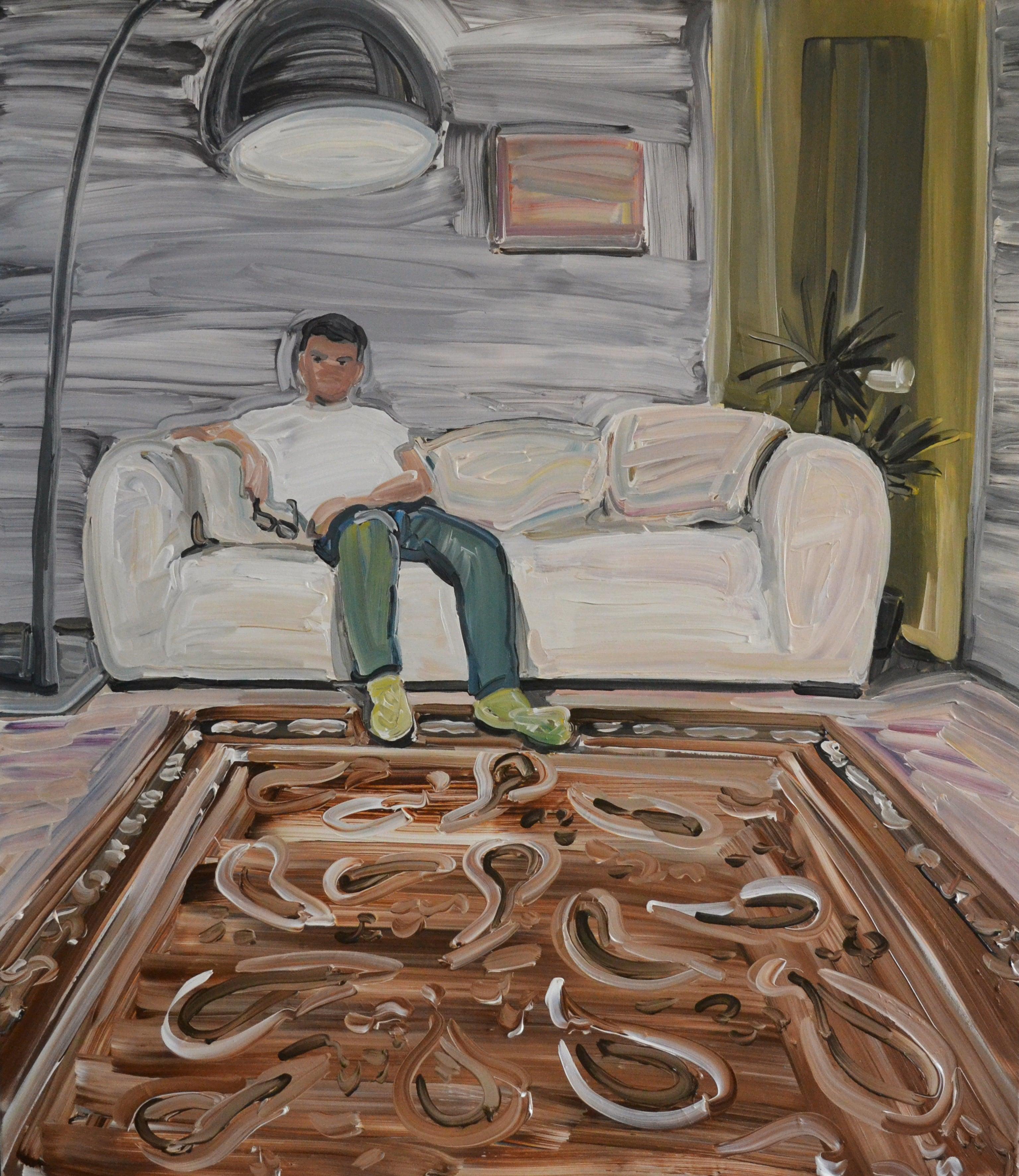 Mirek - Male Portrait, Contemporary Expressive Figurative Oil Painting