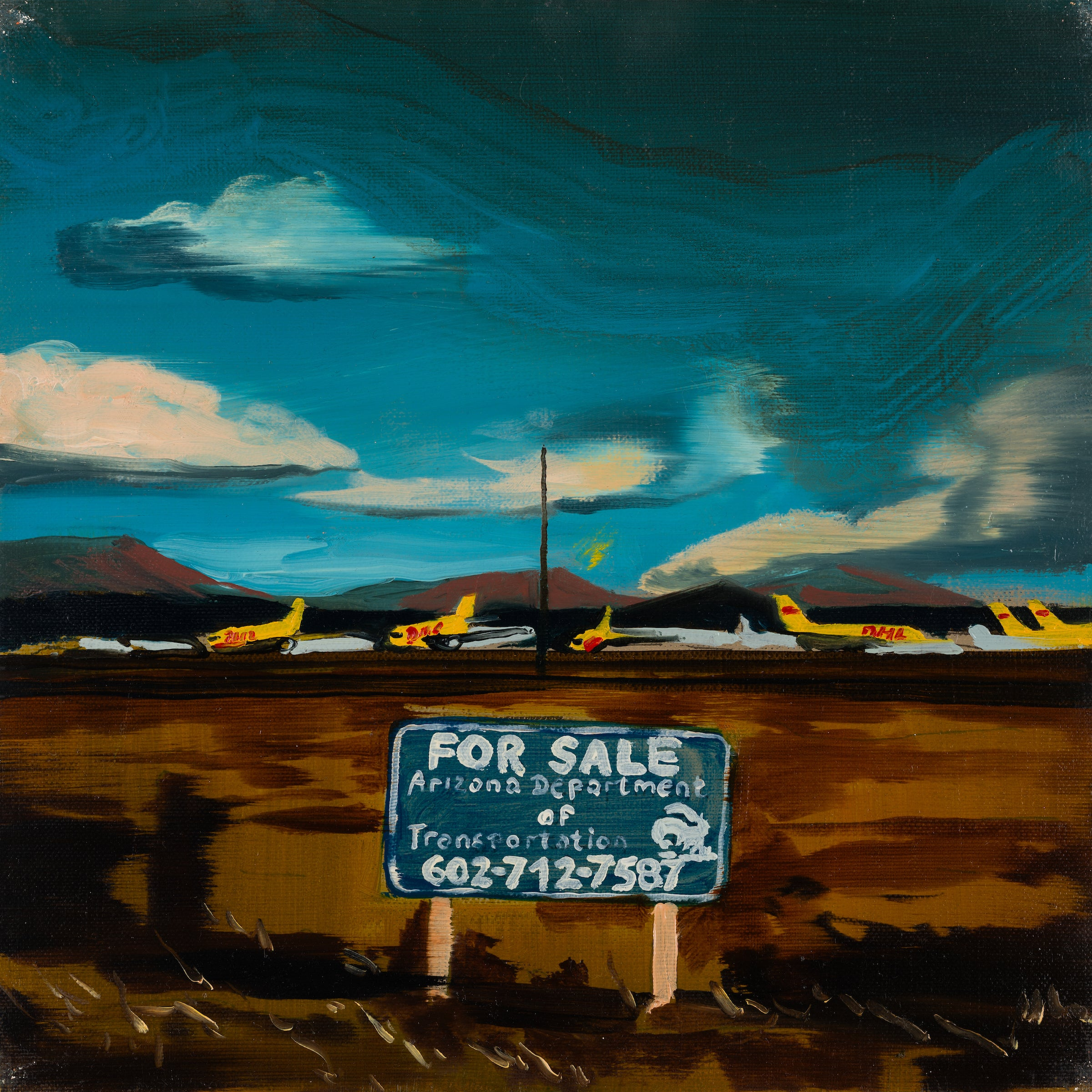 YELLOW PLANES - from the series: MADE IN USA,  Landscape, Expressionism