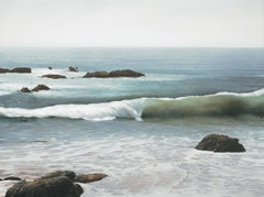 Victoria Beach by Todd Kenyon with rocks and soft rolling surf.