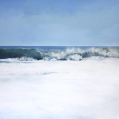 Azure by Todd Kenyon has blue and white foamy waves.