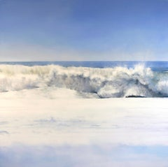 Laguna Surf by Todd Kenyon  - ocean blue and white waves crashing on beach