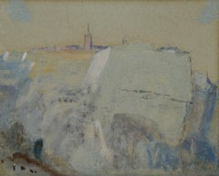 The Citadel of Saint-Esprit - landscape painting by Hercules Brabazon Brabazon