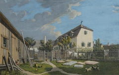 Maison à Heiligenstadt - 19th century painting, a domestic scene outdoors