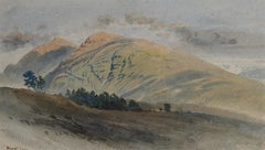 Ben Lui, Scotland - 19th century watercolour landscape by Harry John Johnson