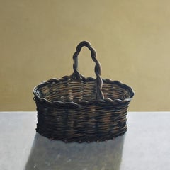 The Basket - contemporary still life oil painting by Patrice Lombardi