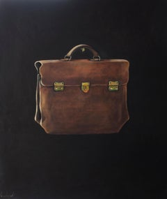 The Lucchese Bag - contemporary still life oil painting by Patrice Lombardi