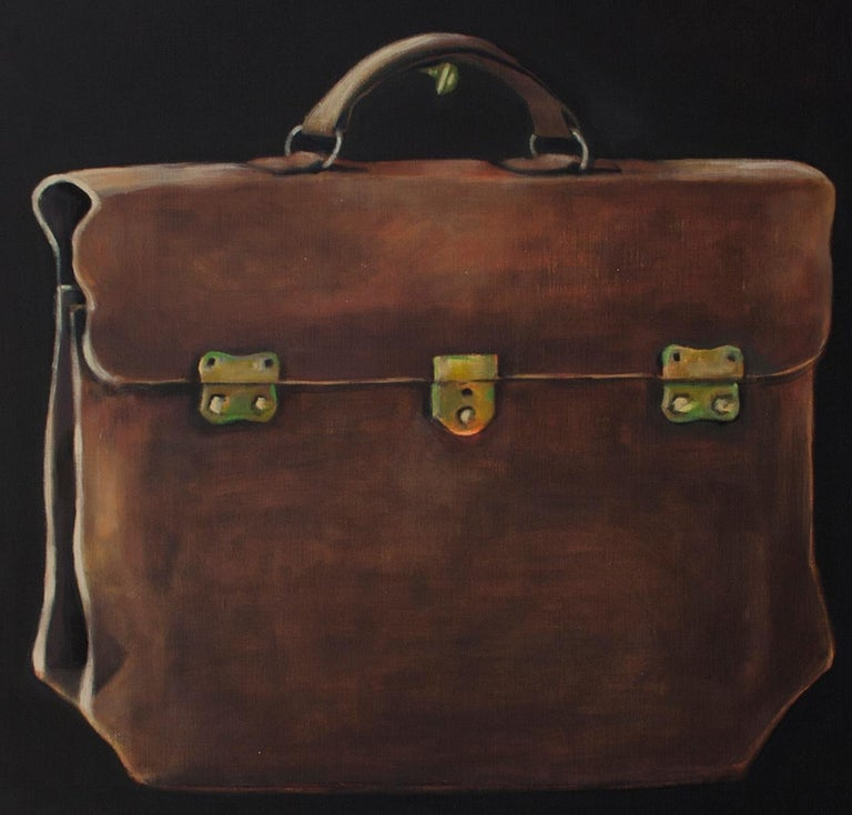 The Lucchese Bag - contemporary still life oil painting by Patrice Lombardi For Sale 2