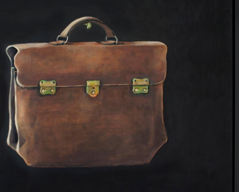 The Lucchese Bag - contemporary still life oil painting by Patrice Lombardi For Sale 3